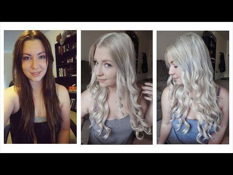 How To Get Blonde Hair To White Blonde Hair Tutorial It Works Part 1 Youtube White Blonde Hair Brown Blonde Hair Dark Hair