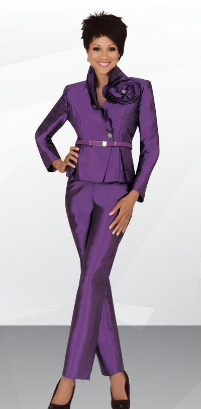 9da417d339e Ben Marc Stacy Adams 78444 Womens Pant Suit - Two piece taffeta pant suit  features a 22 inch jacket and 42 inch pants. Place your order while still  in ...