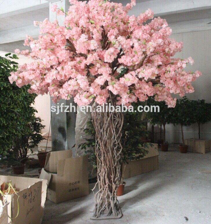 Source Wedding Decorative 2 2m Pink Indoor Artificial Cherry Blossom Tree F Wedding Tree Decorations Artificial Cherry Blossom Tree Branch Centerpieces Wedding
