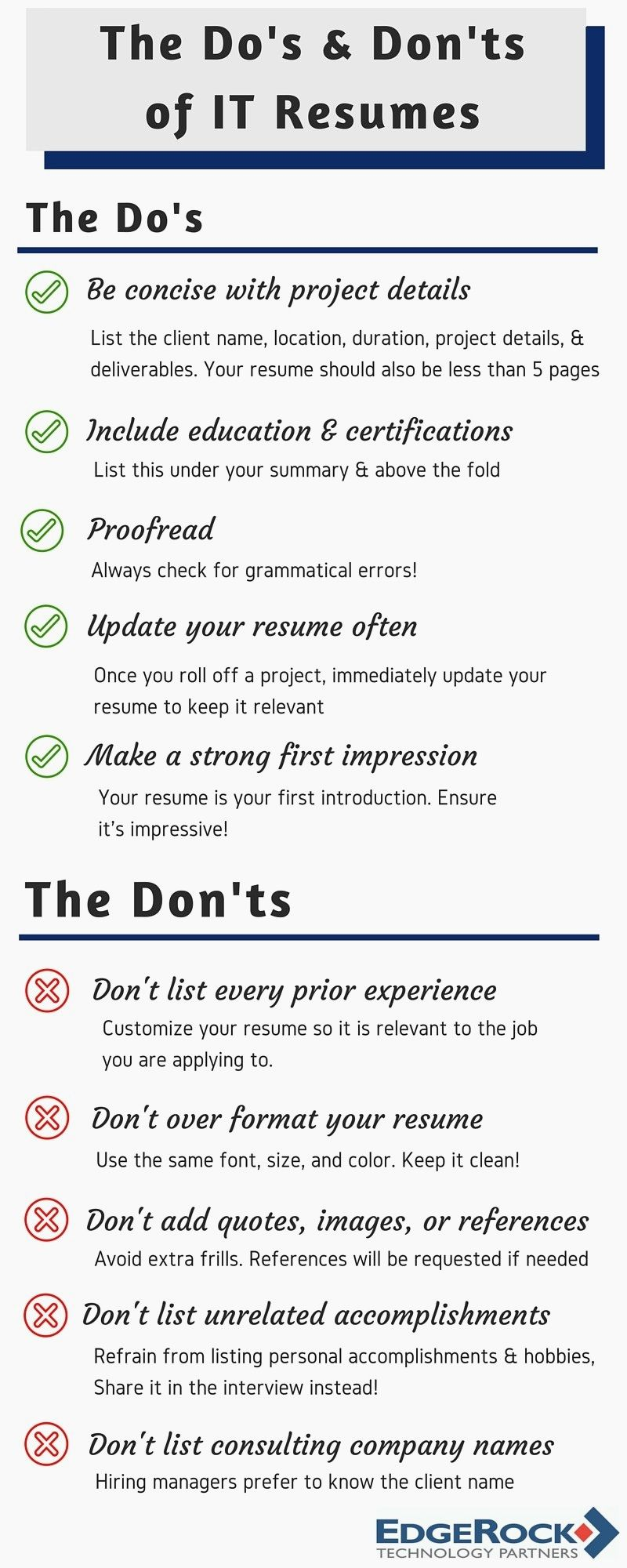 Resume Format Dos And Donts (With images) Resume format