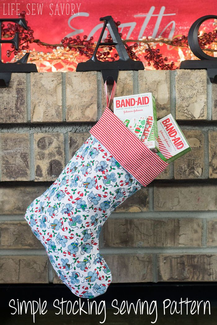 Christmas Stocking Sewing Pattern and tutorial FREE with Stocking ...