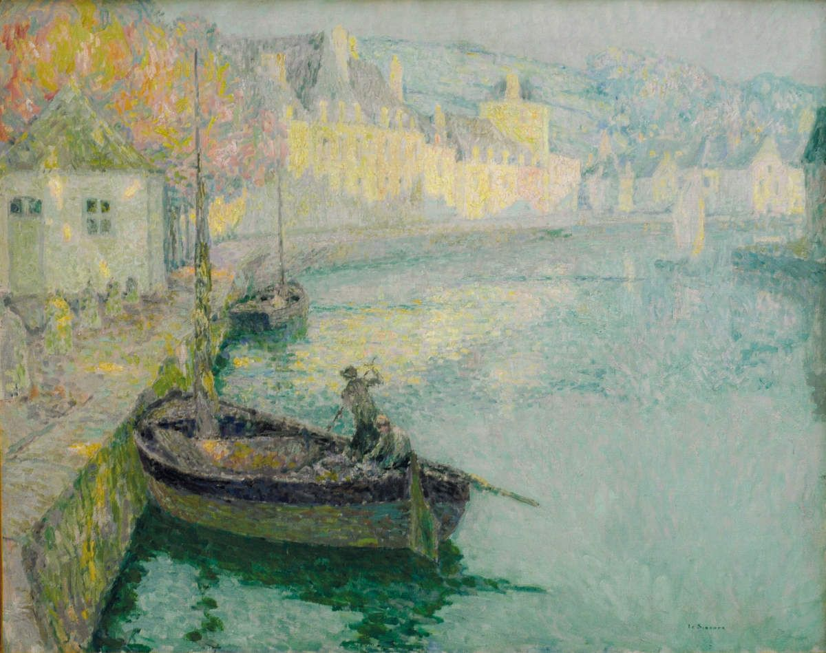 Painting The Town City Town Village House Art Henri Le