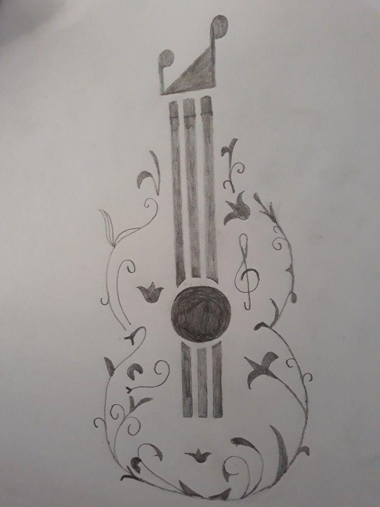 Dibujo De Guitarra Tumblr A Lapiz Facil Dibujos De Guitarras