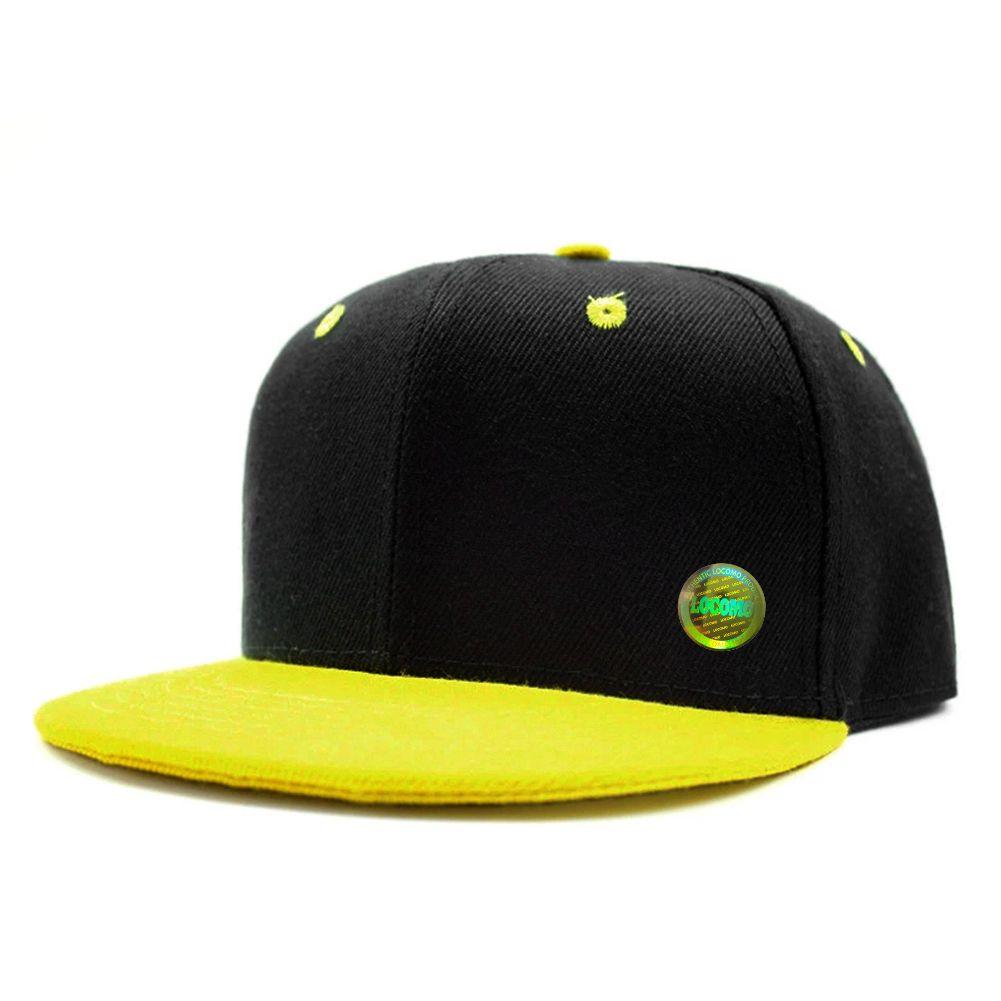 33ec07abaa29e0 Boy Girl Kid Plain Color Simple Design Snapback Cap Black ...