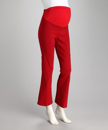 Take a look at this Red Stripe Over-Belly Maternity Pants by QT Maternity on #zulily today! $9.99, regular 20.00. Sale ends in 1 days, 7 hours. In otherwords, sale ends on Friday, June 7th in the evening.