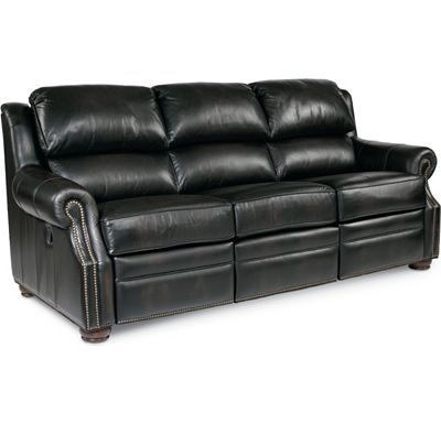 This Fits Perfectly With The Thomasville Brand The Right Style For A Reclining Sofa Rp Chadwick Reclining Sofa Black Leather Couch Home Furnishing Stores