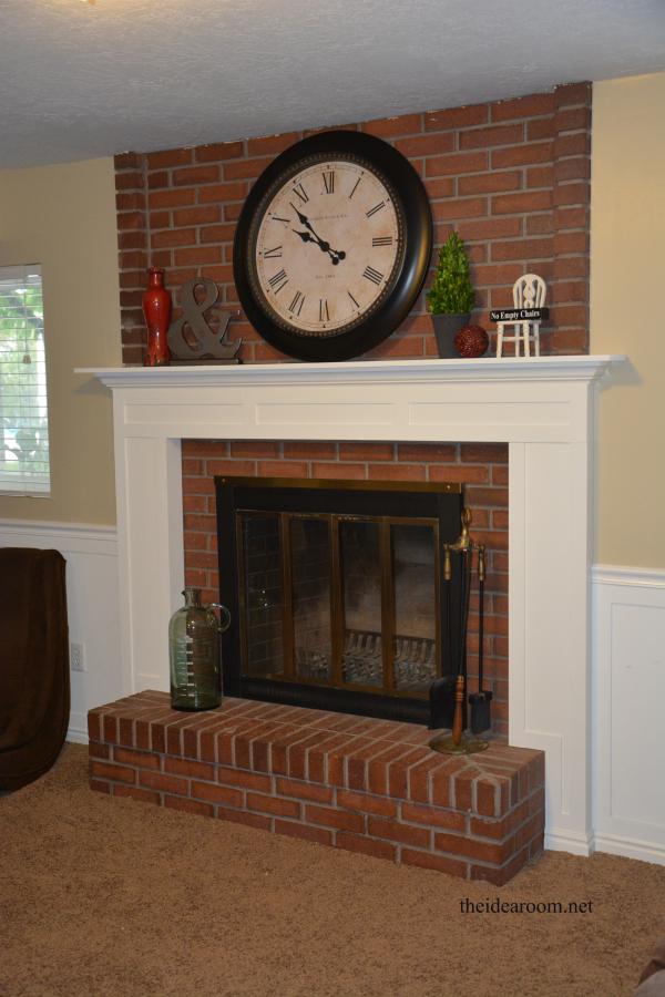 Diy Fireplace Mantel The Idea Room Diy Fireplace Mantel Home Fireplace Brick Fireplace Makeover