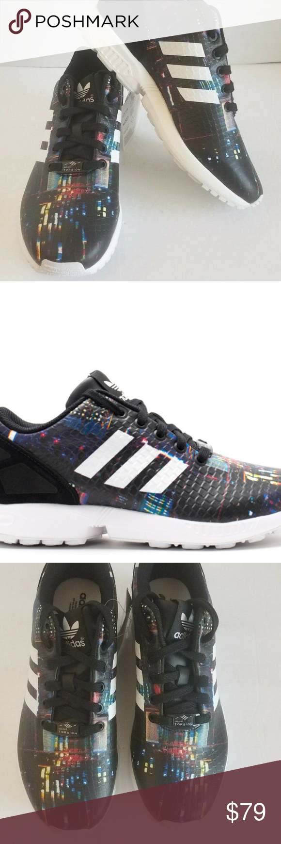430c5c2dd adidas Womens ZX Flux W Tokyo Lights B25834 Shoes adidas Womens ZX Flux W  Tokyo Lights B25834 Running Shoes Size 7 Brand New NO BOX The latest  successor to ...