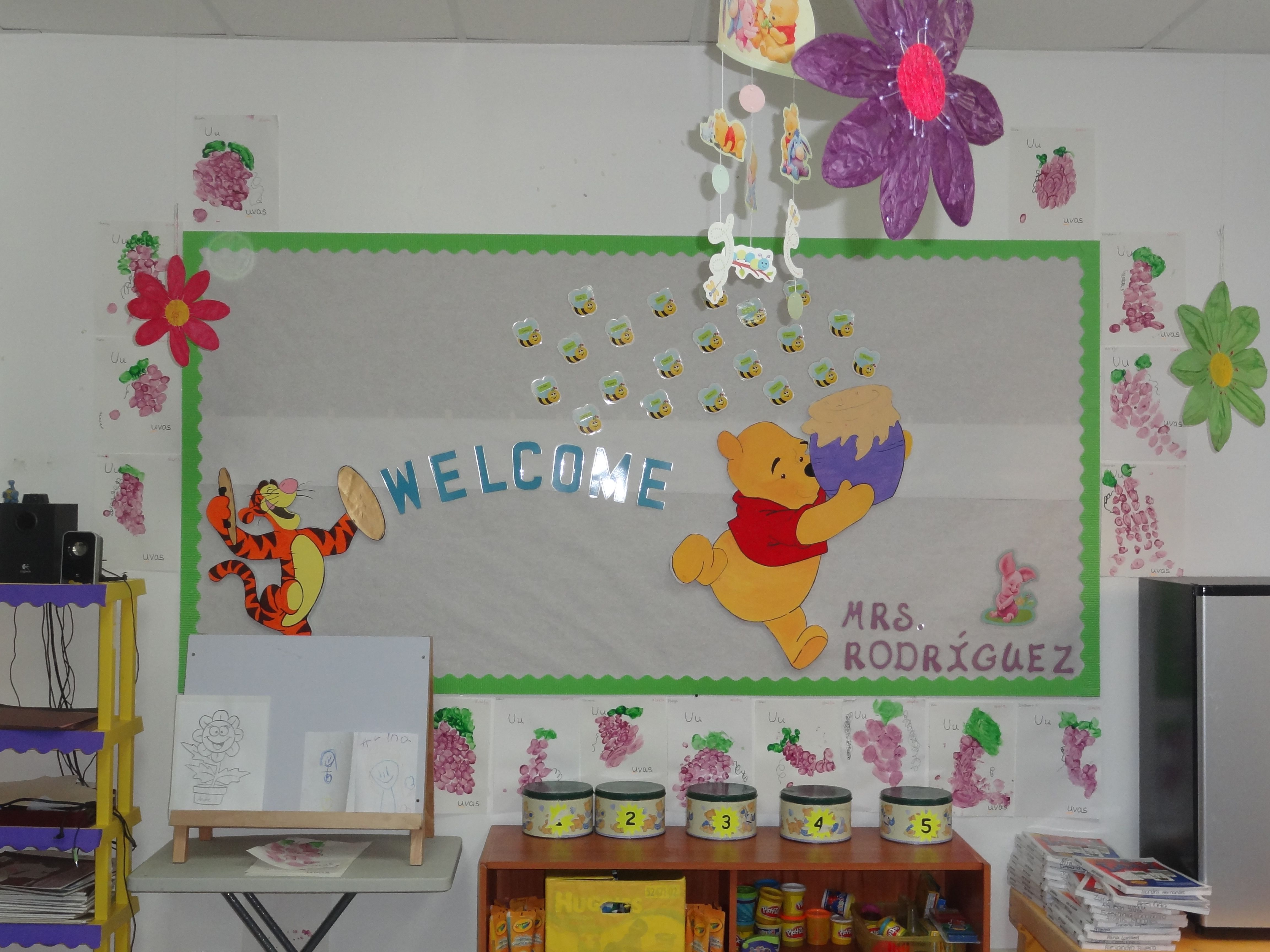 Classroom Welcome Ideas ~ My winnie the pooh welcome bulletin board by luannie ms