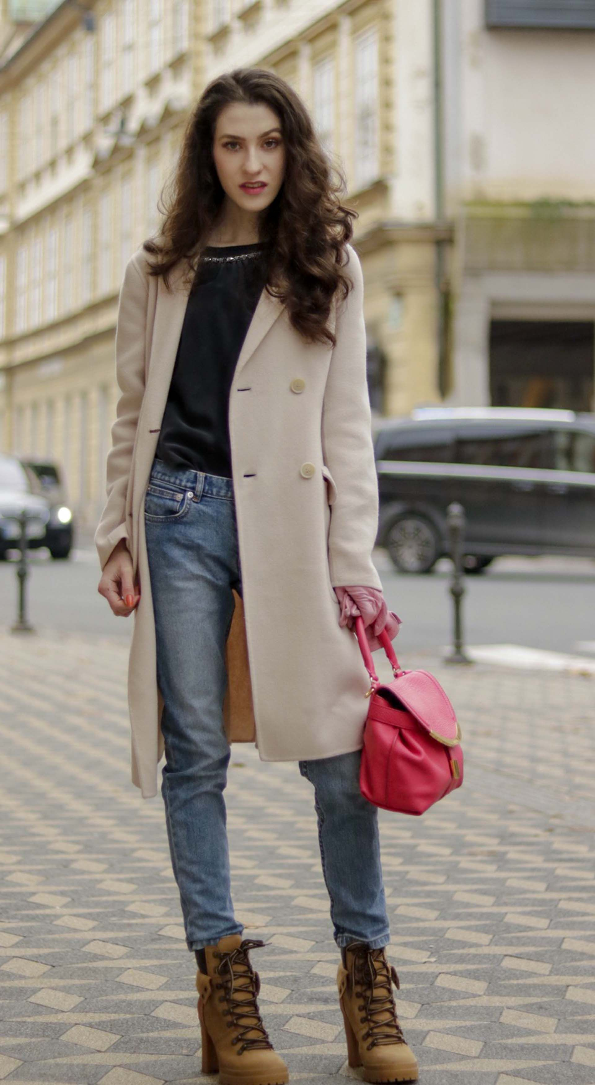 024686dc132 Must follow Slovenian Fashion Blogger Veronika Lipar of Brunette from Wall  Street dressed in See By Chloé ankle boots