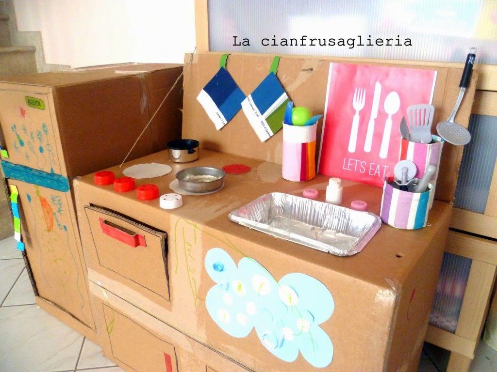 Come fare una cucina in cartone - Tutorial in italiano. | Cucina ...