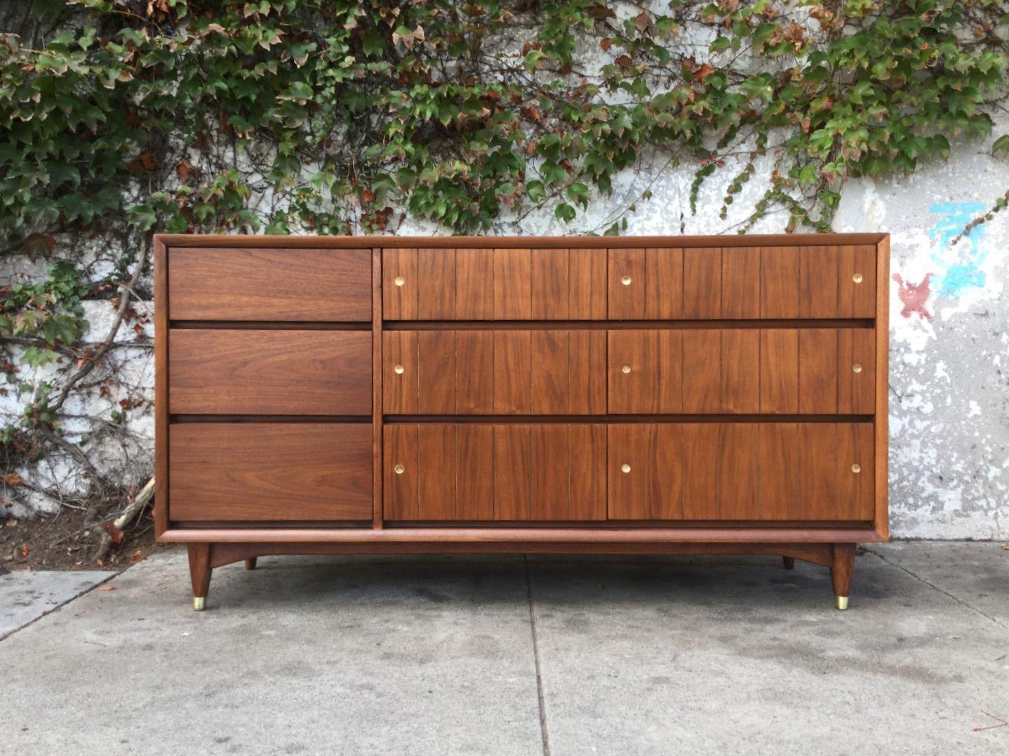 Vintage Kroehler 9 Drawer Dresser Furniture 9 Drawer Dresser