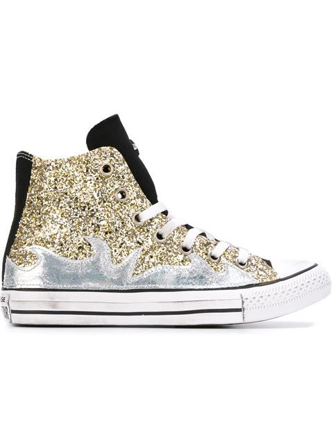 3b88ff22ea9 Shop Converse glitter hi-top sneakers in Excelsior Milano from the world s  best independent boutiques at farfetch.com. Shop 400 boutiques at one  address.