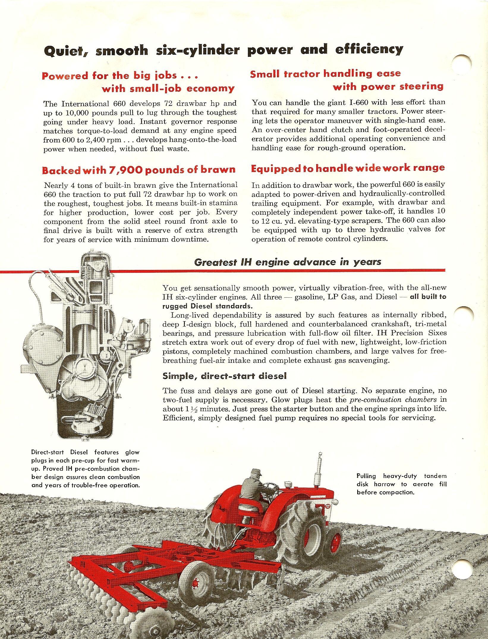 1960 IH 660 Tractor  | International Harvester Advertising