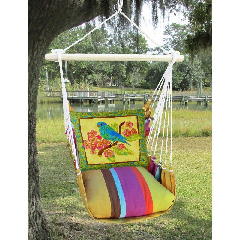 Magnolia Casual Cafe Soleil Lady Bird Outdoor Hammock Chair Set With