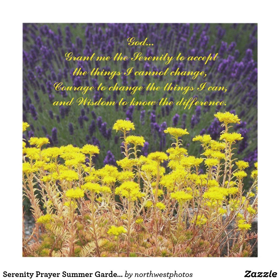 Serenity Prayer Summer Garden Photo Panel Wall Art | Fine arts ...