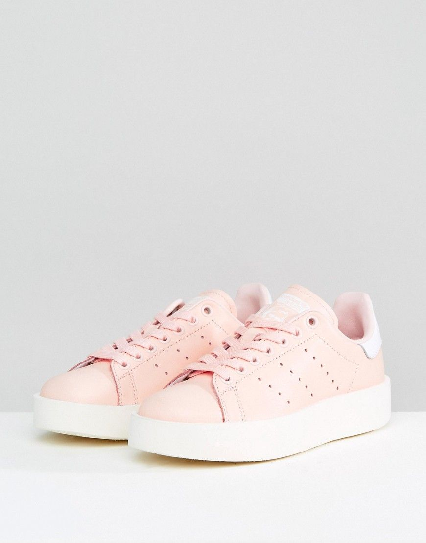 buy popular 6e0be 0c047 adidas Originals Pale Pink Stan Smith Bold Sole Sneaker - Pink