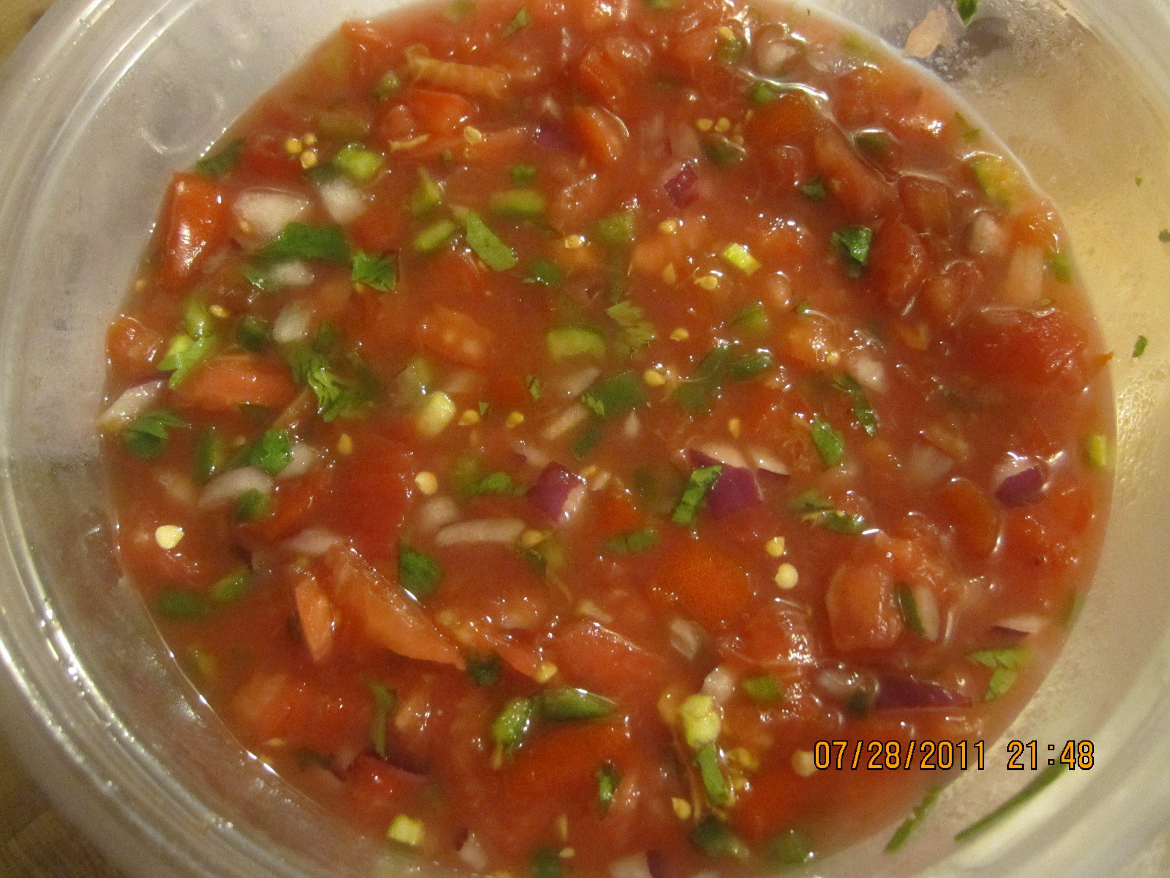 Homemade Fresh Salsa with lime and cilantro   Recipes ...