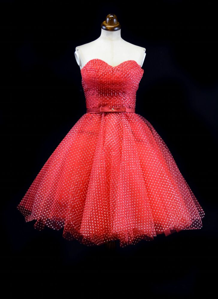d829a75632 Image of Rosie - Red Tulle Prom Dress by Alexandra King www.alexandra-king .com