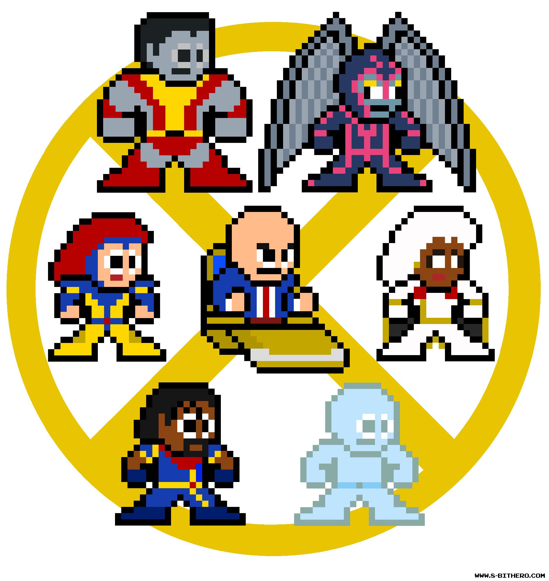 8-Bit X-Men Gold Team Marvel Pixel Sprites | Pixelated Pop Culture ...
