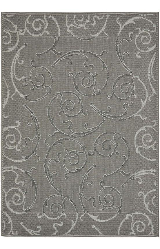 Safavieh Courtyard CY7108 Anthracite Light Grey Rug | Contemporary Rugs