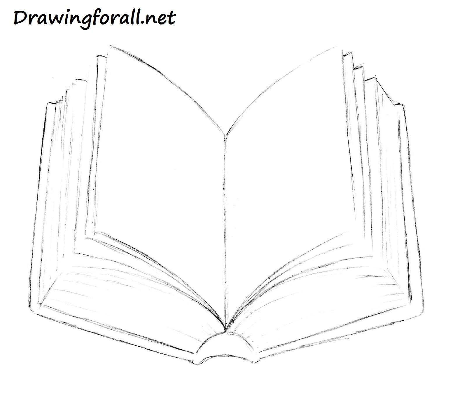 5 Book Pencil Drawing Jpg 1 618 1 348 Pixels Book Drawing Open Book Drawing Drawing Tutorial