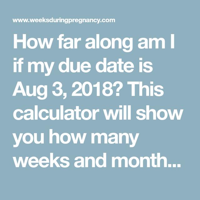how far along am i calculator