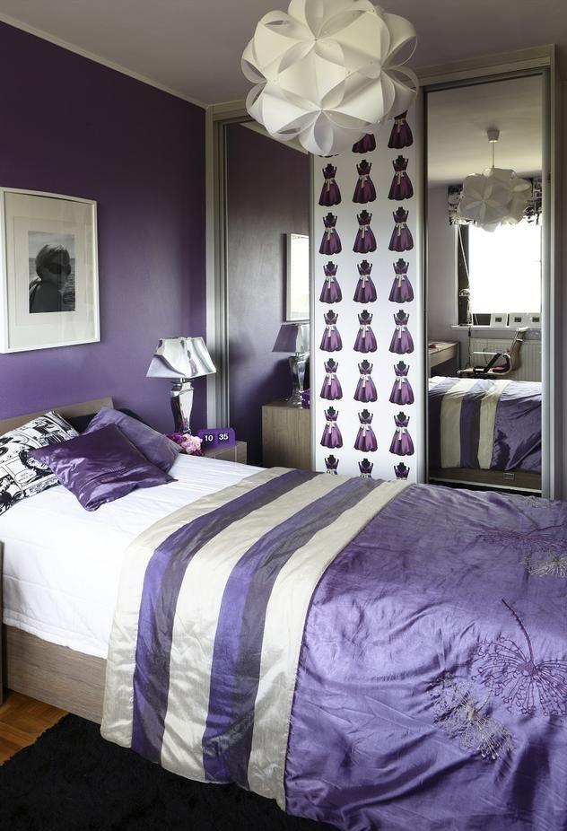 jugendzimmer ideen maedchen lila weiss deko kleiderschrank. Black Bedroom Furniture Sets. Home Design Ideas