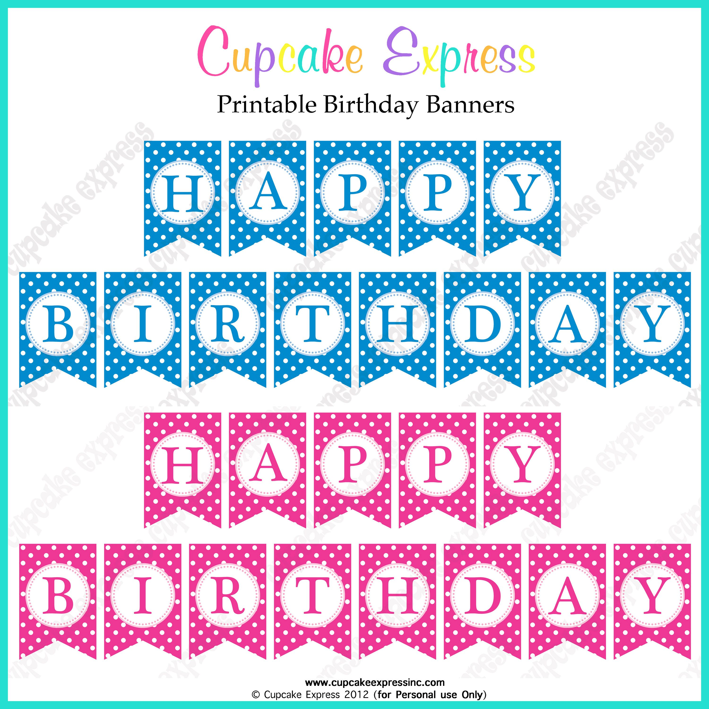 Free Printable Happy Birthday Banner Birthday Banner Free Printable Happy Birthday Printable Free Birthday Printables