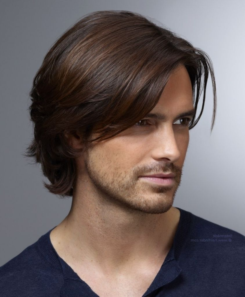 Long Male Haircut Men39s Hairstyle With Ear Top Hair And Curls That Curl Up In