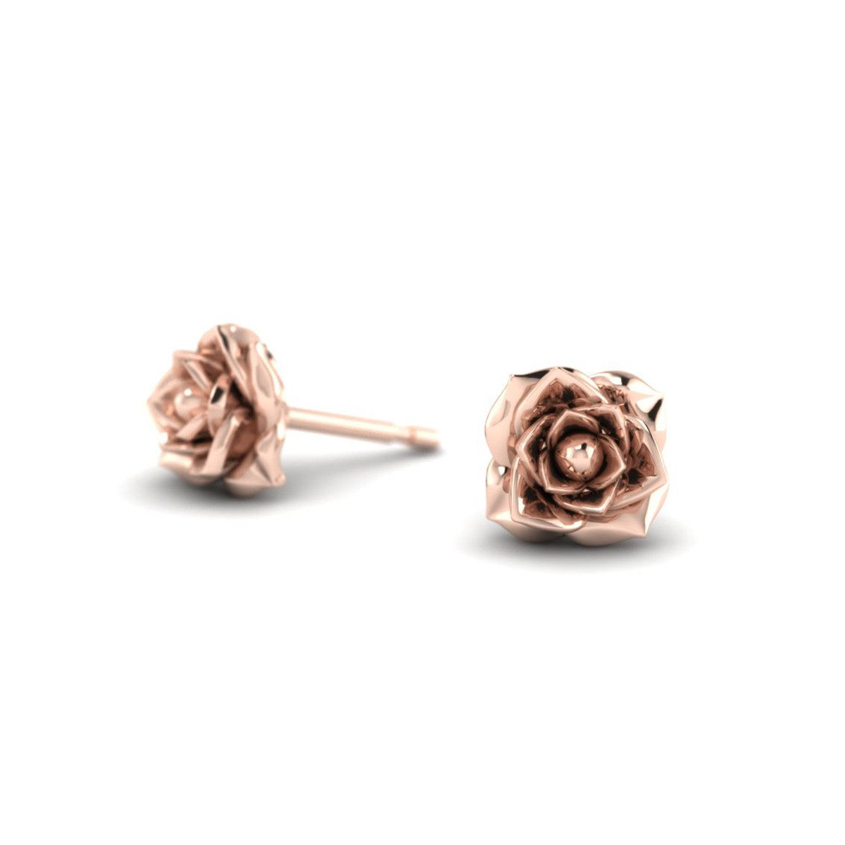 enameled oliviaea small earrings flower gold lucie diamonds studio olivia meme stud solid p