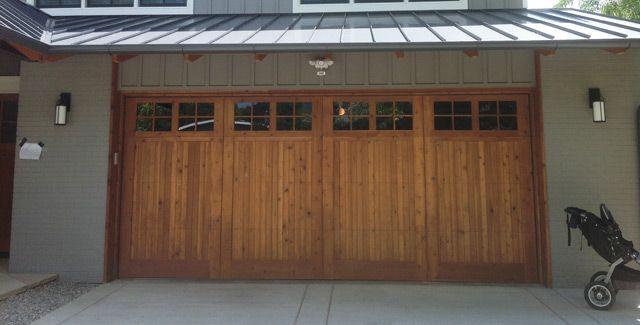 Custom Wood Garage Doors บ านในฝ น