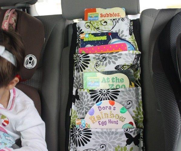 Nice Books Storage for Kids in car!