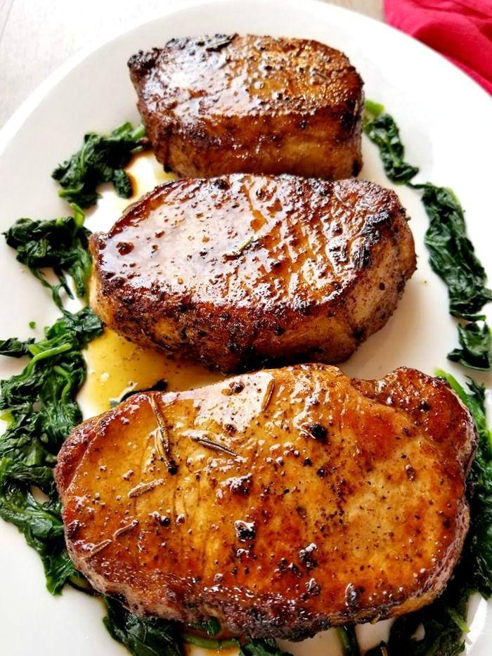 Rosemary Garlic Butter Pork Chops rosemary garlic