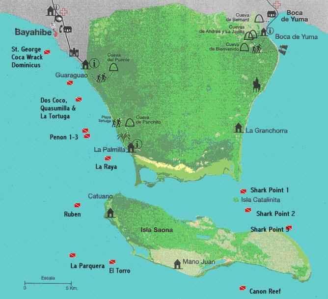 Map Of La Isla Saona Dominican Republic Saona Island Fishing Vacation Sailing Adventures