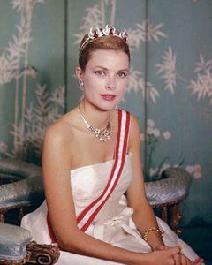 Princess Grace of Monaco wearing the state jewellery