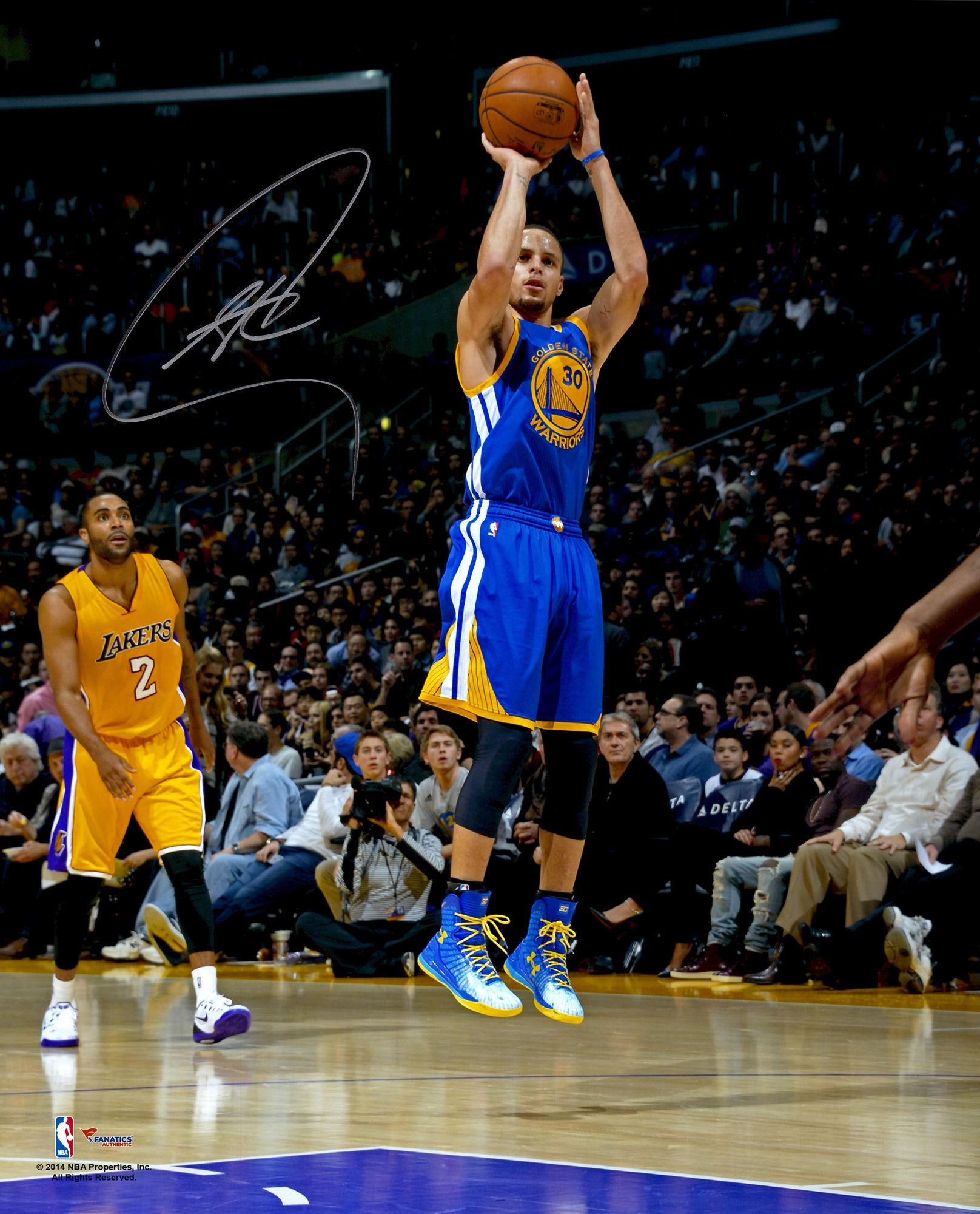 """Stephen Curry Basketball: Stephen Curry Golden State Warriors Autographed 16"""" X 20"""