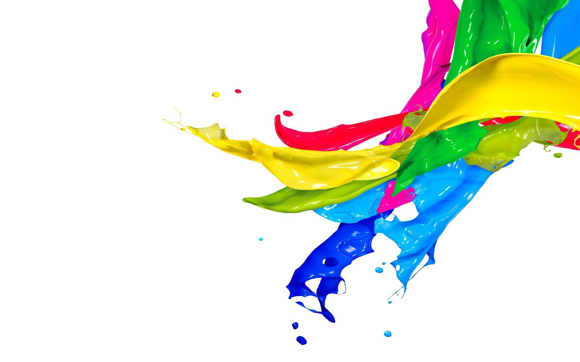 Paint splatter colorful. Splash wallpaper art painting