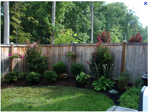 Fence line backyard flower bed pinterest fences landscaping fence line landscaping ideasbackyard workwithnaturefo