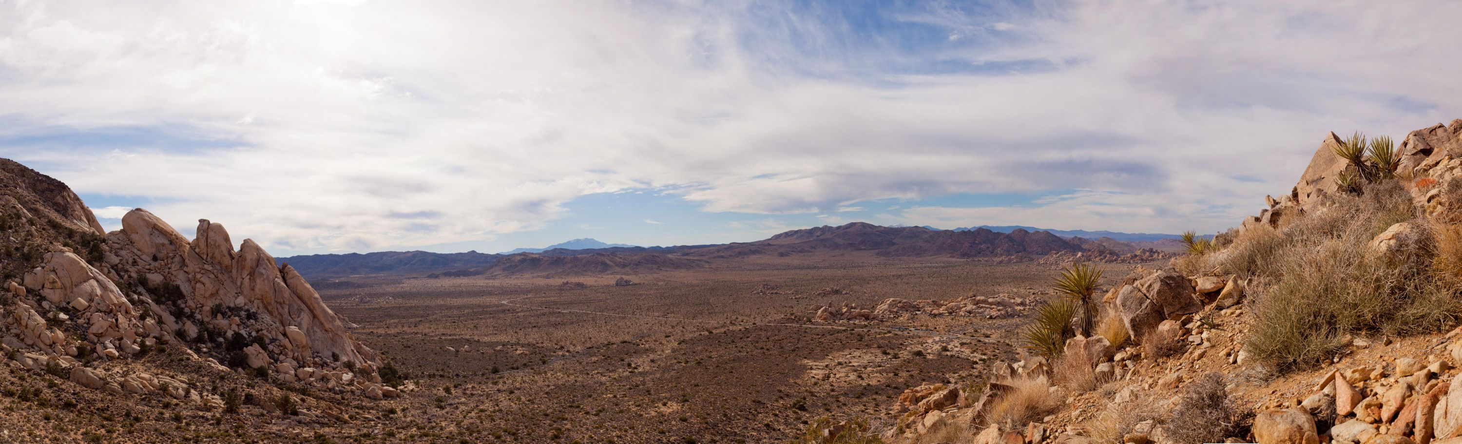 Further up the trail to the top of Mt. Ryan in Joshua Tree National Park.