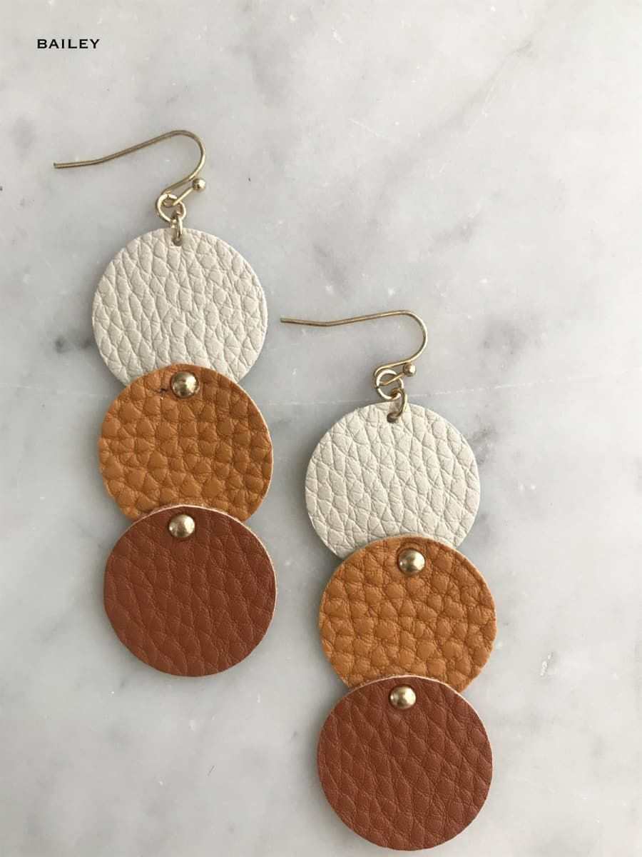 Photo of Leather Earrings | Free Shipping