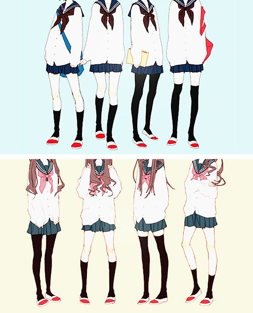 how to draw manga school clothes