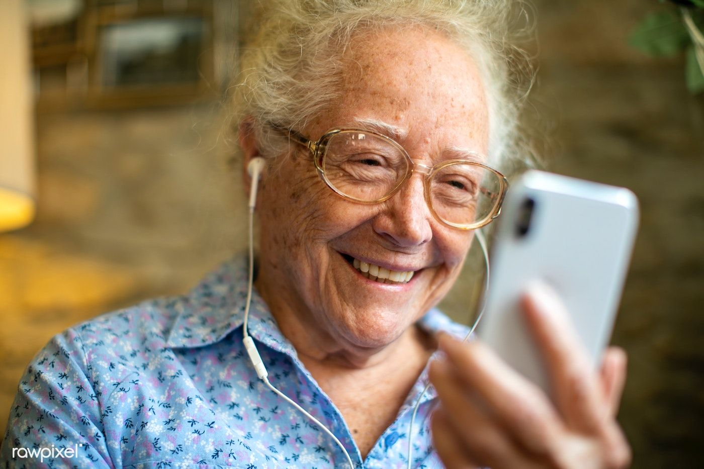 Cheerful senior woman making a video call | premium image by rawpixel.com /  McKinsey | Women talk, Make a video, Senior adults