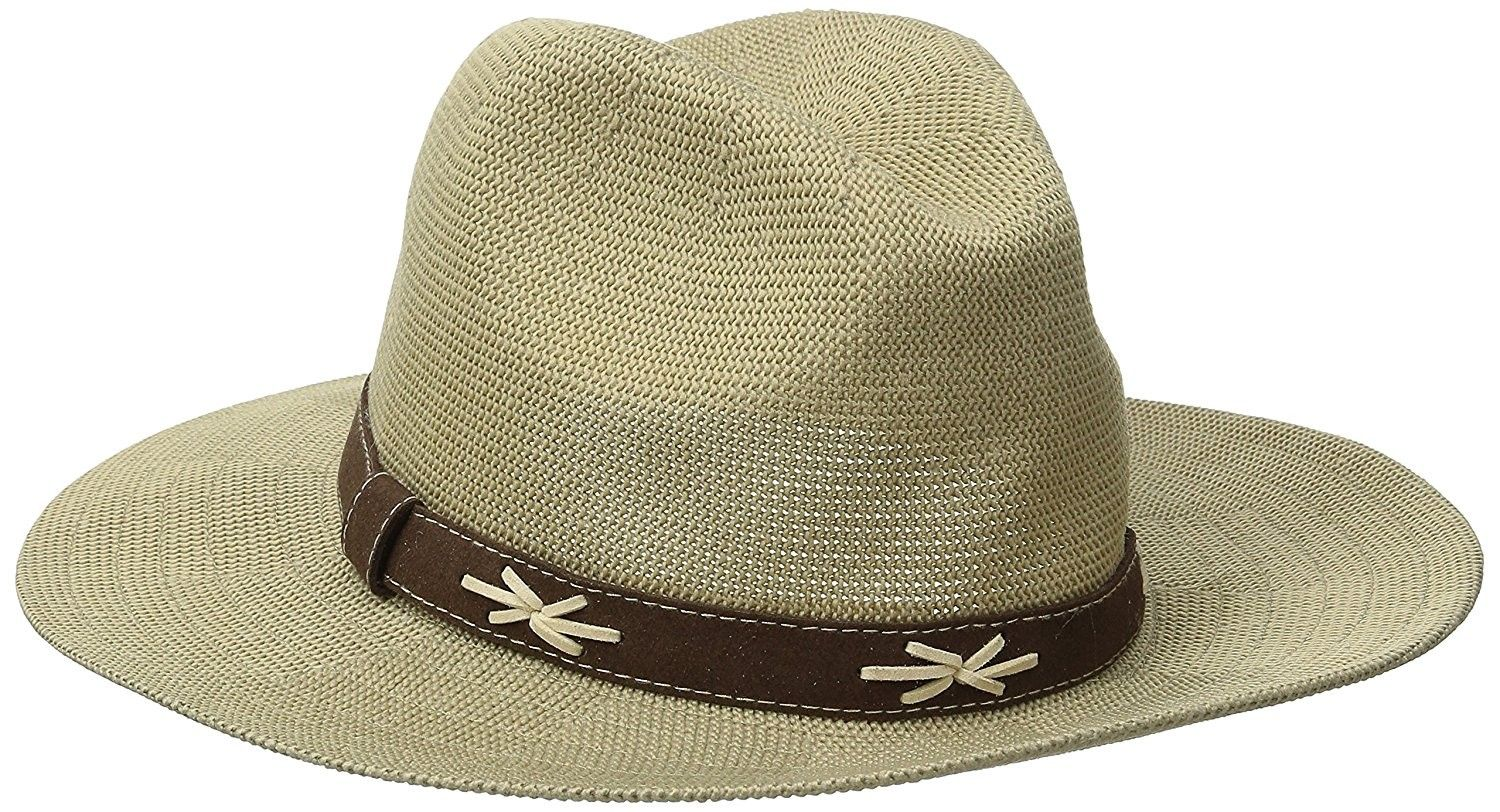 edb2e75a0a8 Women s Knit Fedora With Faux Suede Band - Tan - CA126AORIB9 - Hats   Caps