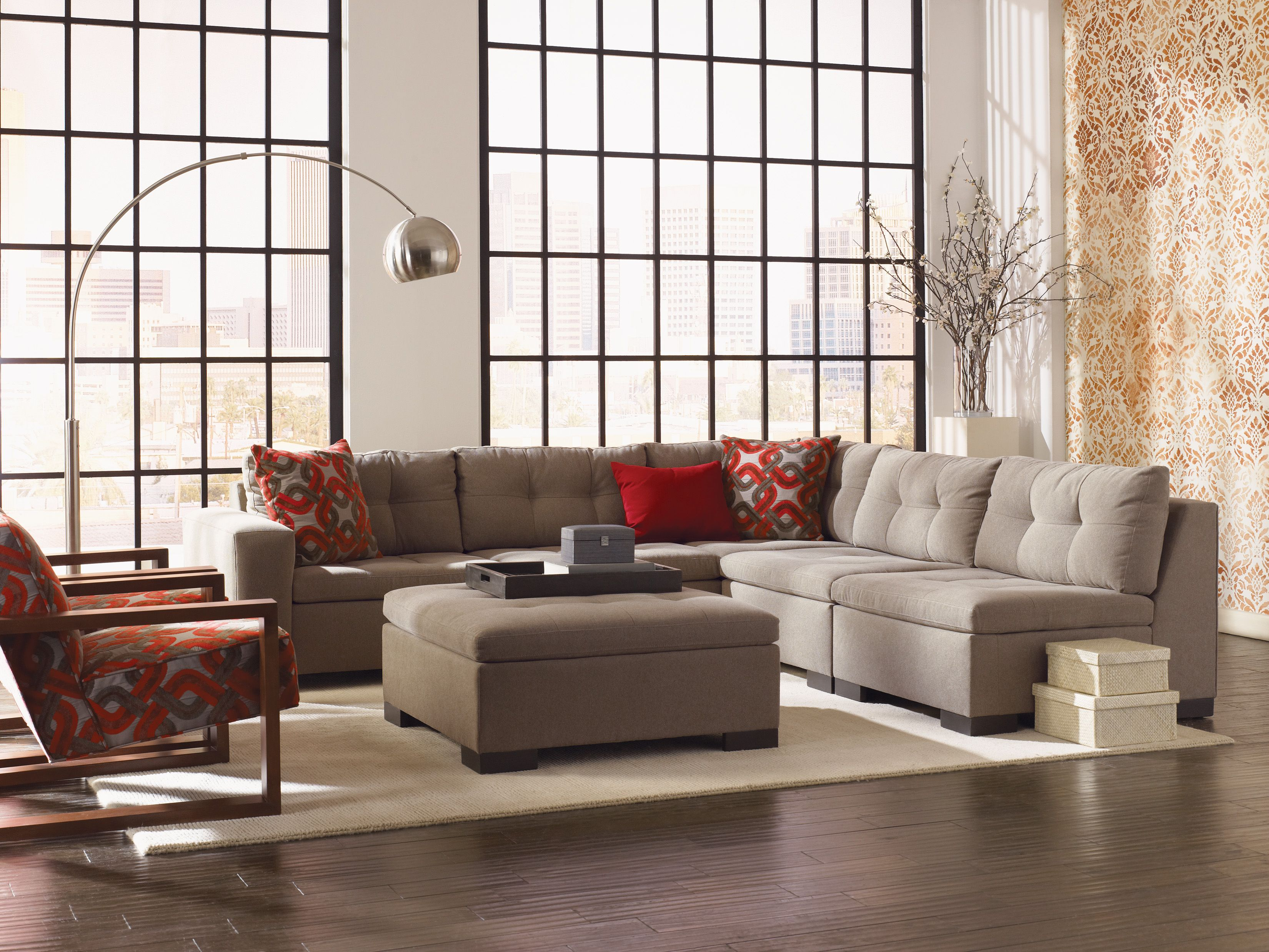 Esteban Sectional In Multiple Configurations Sofa Loveseat Chair