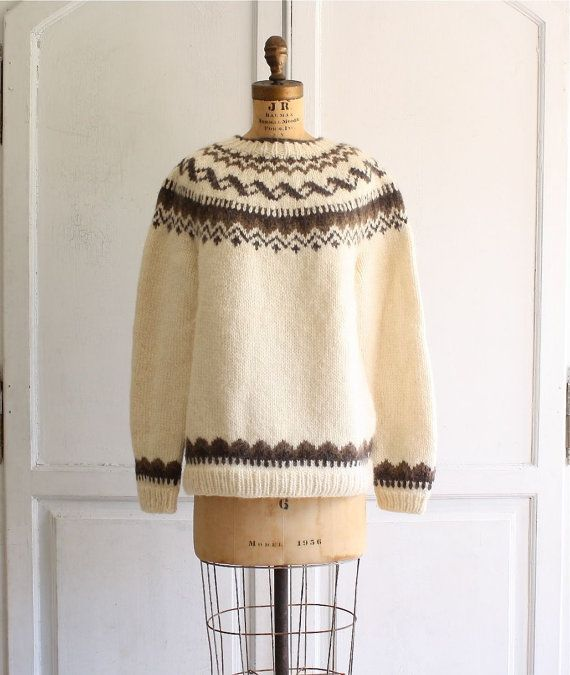 Oversized Scandinavian fair isle sweater women's medium   Fair ...