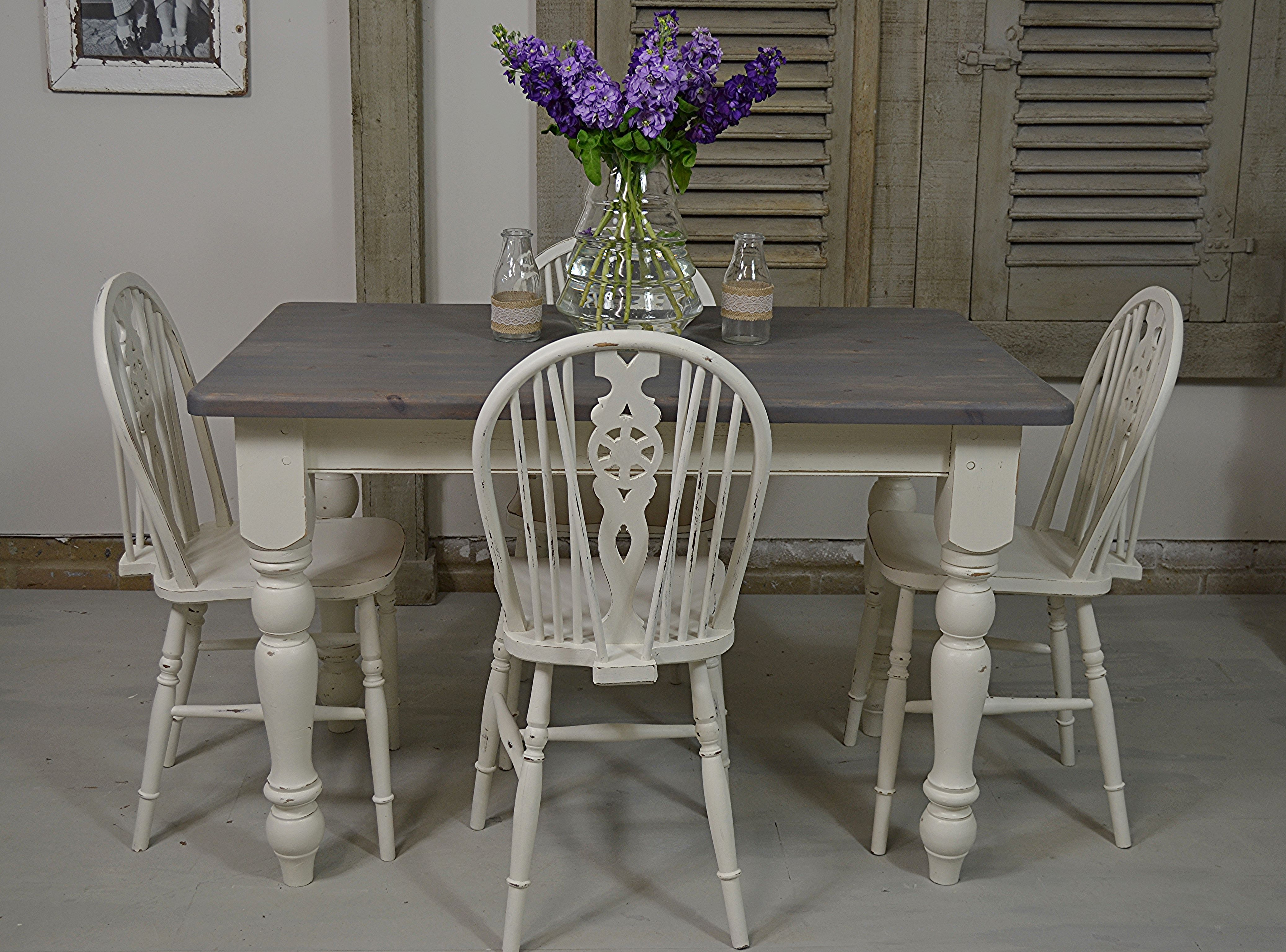 Farmhouse Style In Abundance With This Country Dining Set Painted Farrow Ball James