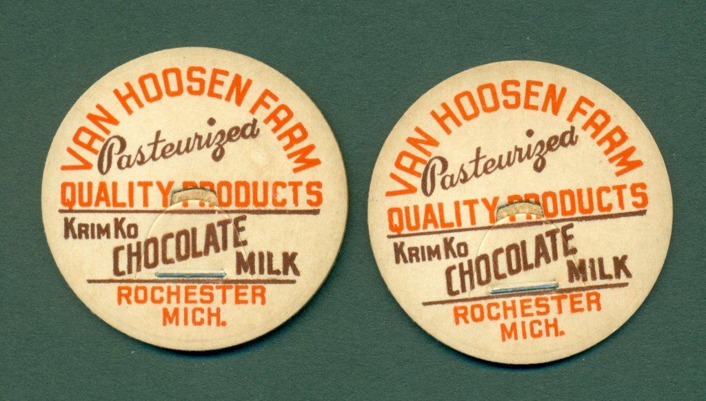 2 Vintage Van Hoosen Farm Rochester Mich Milk Bottle Caps 1 5 8 Milk Bottle Bottle Cap Vintage Vans