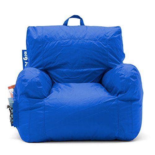 Strange Big Joe Dorm Bean Bag Chair Sapphire Blue Small Size Bean Beatyapartments Chair Design Images Beatyapartmentscom