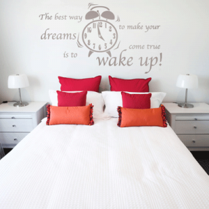 Muursticker slaapkamer Wake up ! | Slaapkamer | Pinterest ...